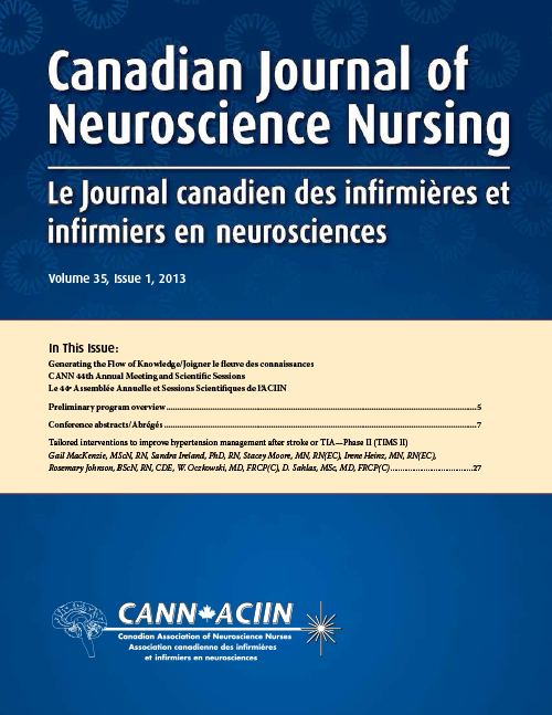 Canadian Journal of Neuroscience Nursing cover