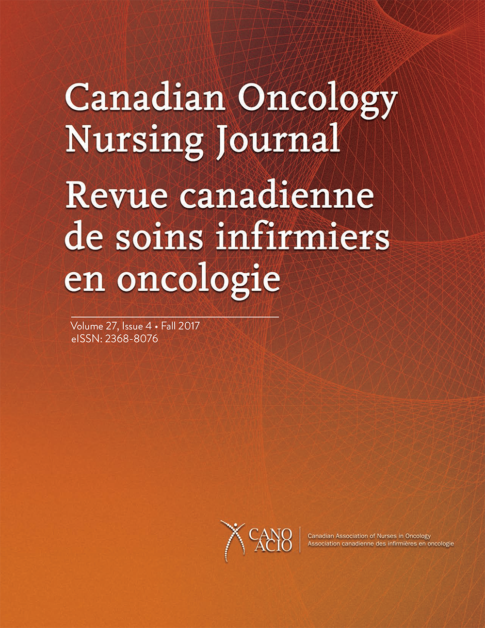 Canadian Oncology Nursing Journal cover
