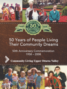 Community Living 50th anniversary book cover